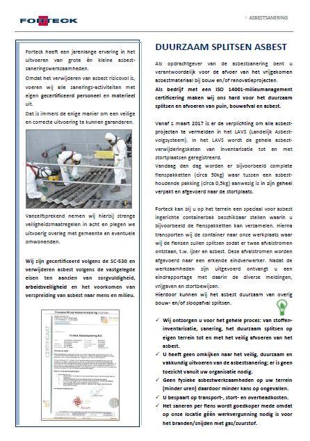 Asbest saneren Pamflet